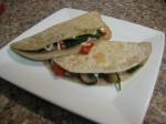 Spinach & MushroomQuesadillas